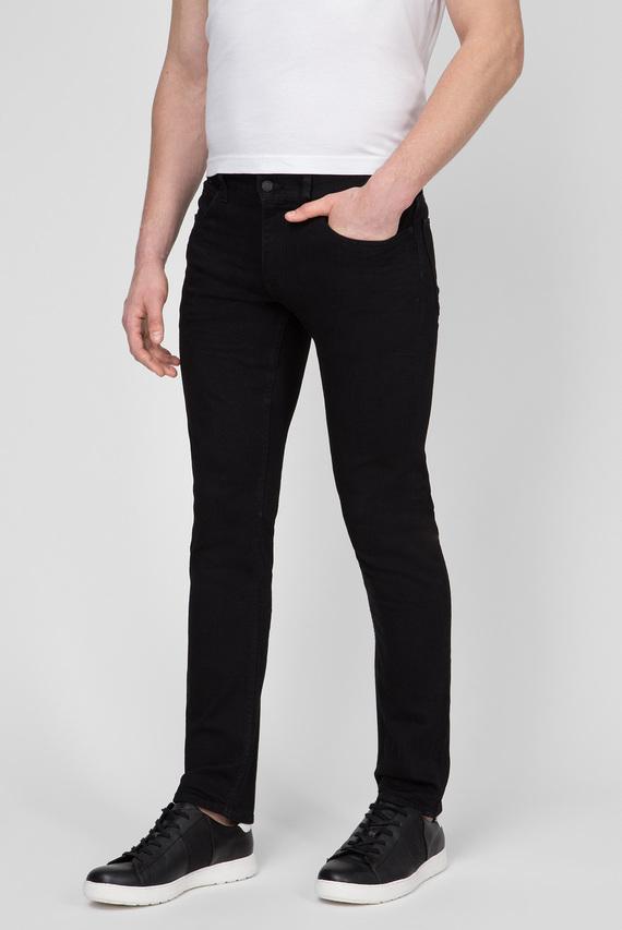 Мужские черные джинсы SLIM FIT BLACK STRETCH DENIM