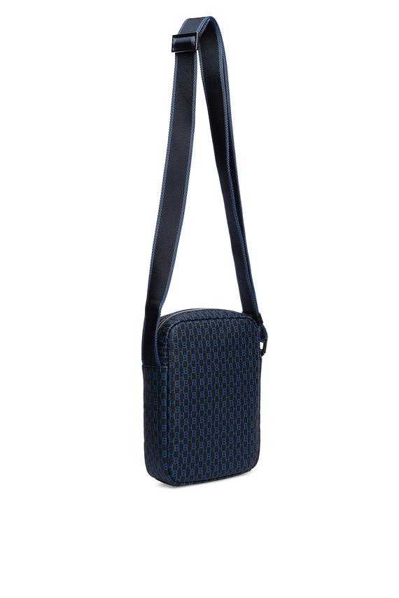 Мужская синяя сумка через плечо