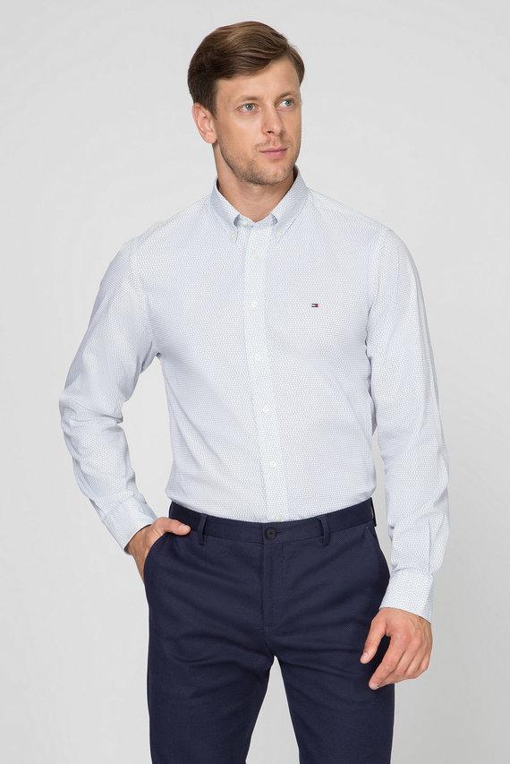 Мужская белая рубашка DOT PRINT SHIRT