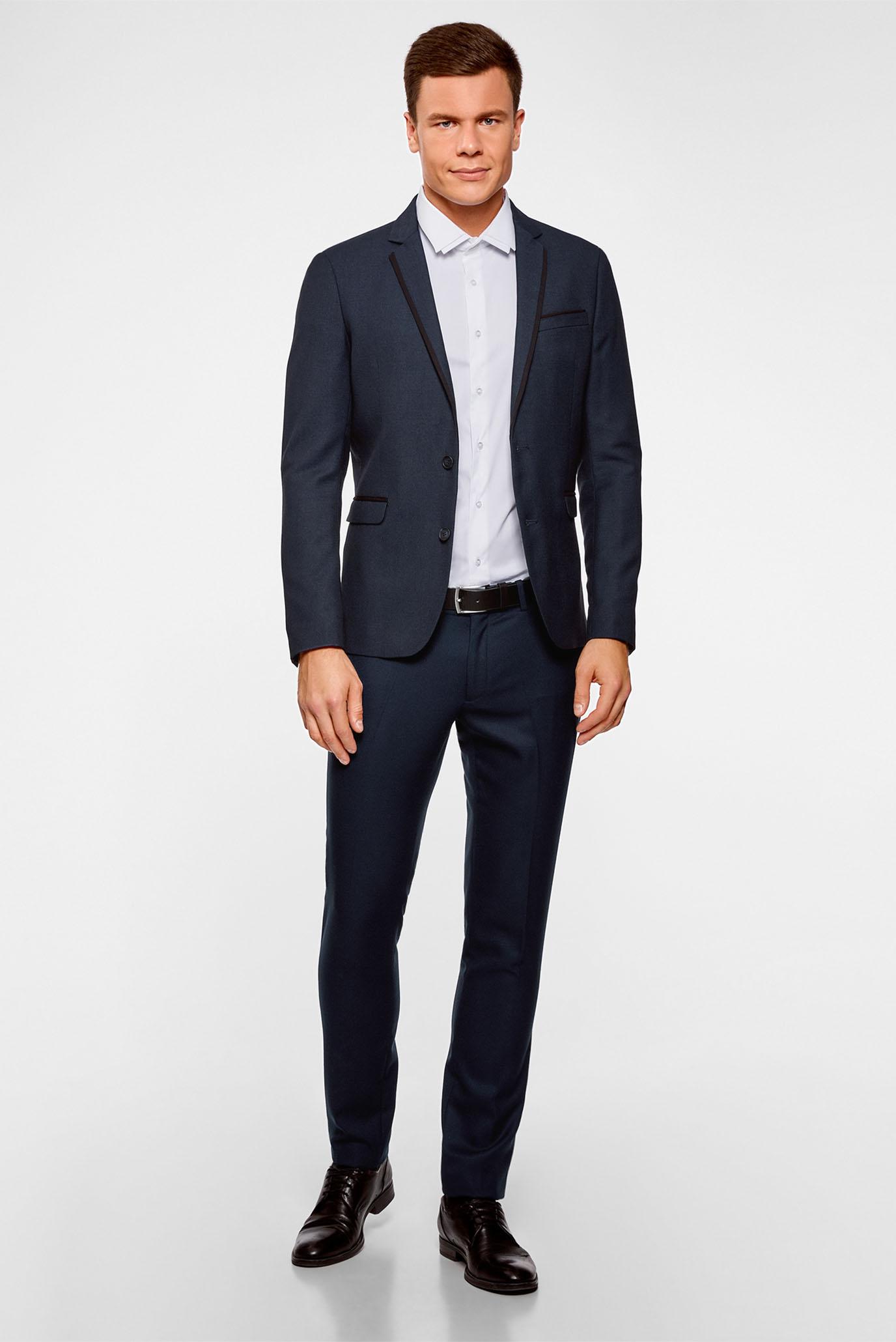 Купить Мужской синий пиджак Oodji Oodji 2L420202M/47087N/7929O – Киев, Украина. Цены в интернет магазине MD Fashion