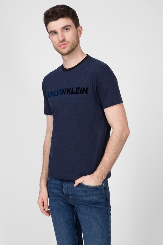 Мужская темно-синяя футболка TONE ON TONE