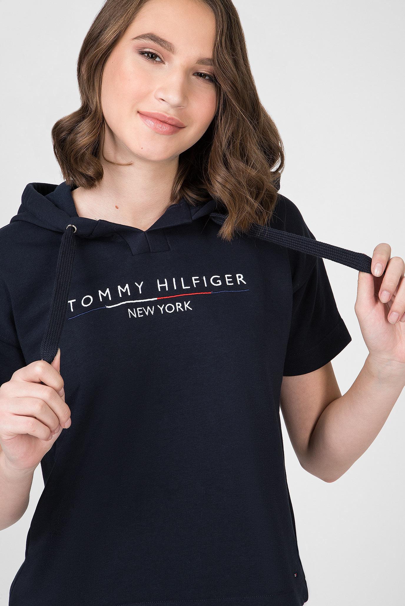 Женское темно-синее худи CHARLOT Tommy Hilfiger