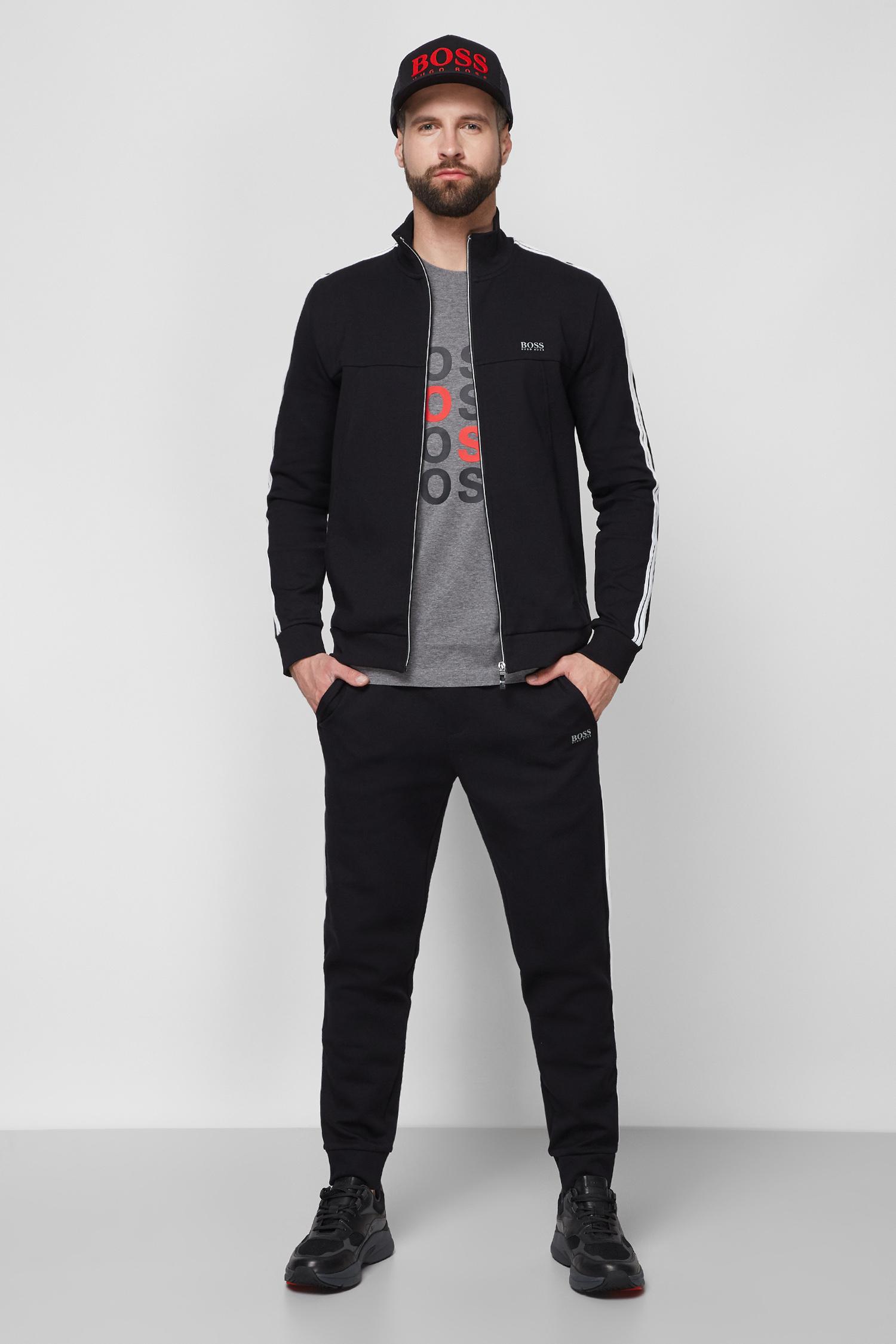 Чоловічий чорний спортивний костюм (спортивна кофта, штани) 1