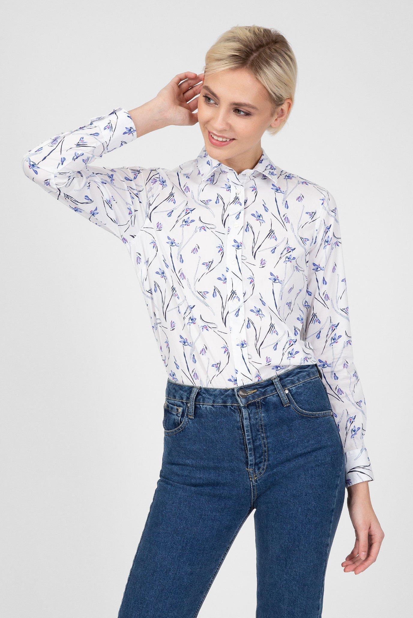 25c97584283fd9f Купить Женская белая рубашка с принтом Gant Gant 4320065 – Киев, Украина.  Цены в интернет магазине MD Fashion