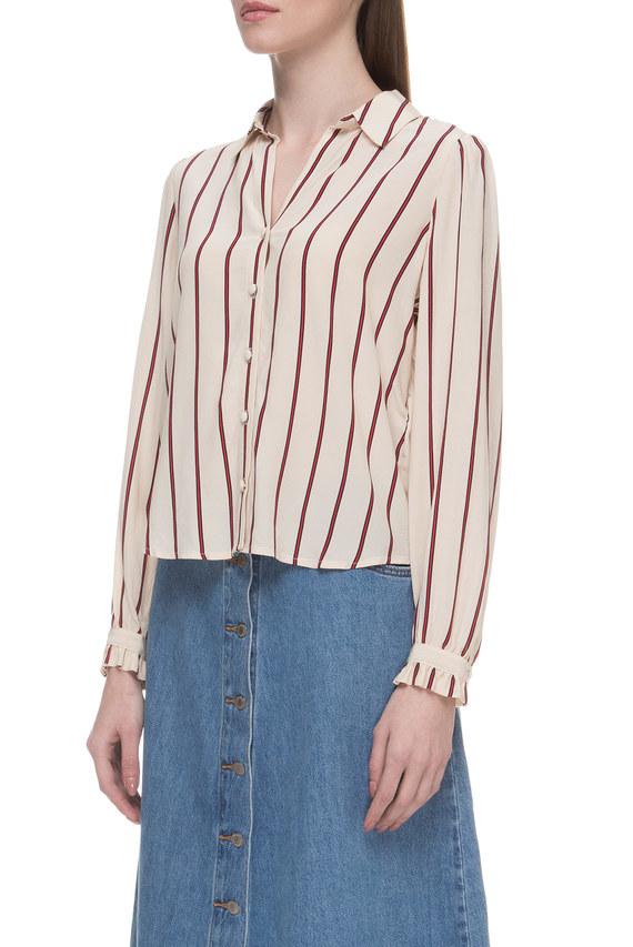 Женская бежевая блуза