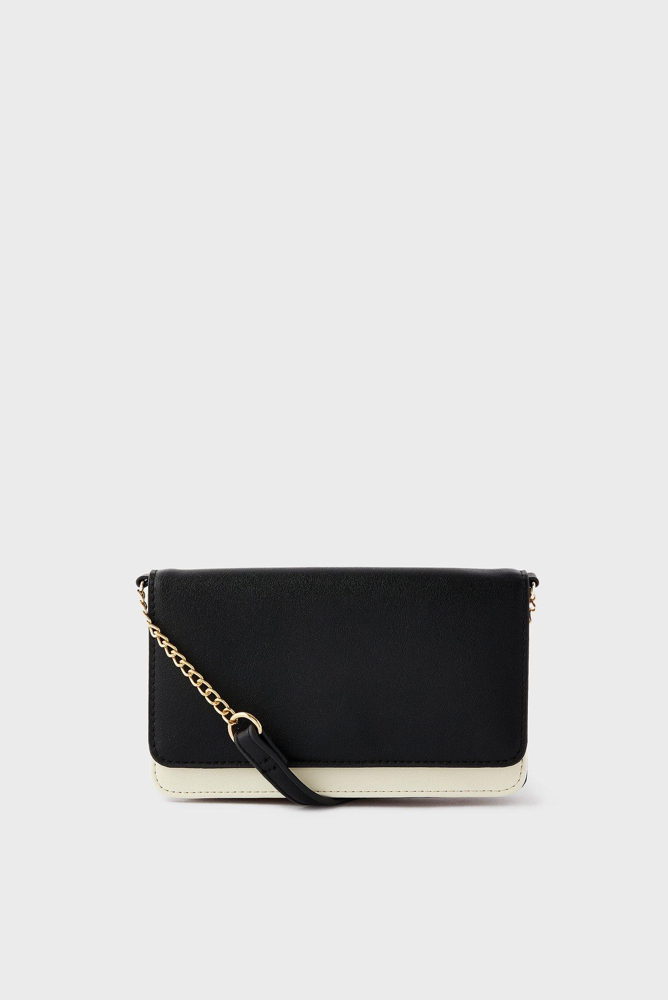 Женская черная сумка Pia Chain Purse 1