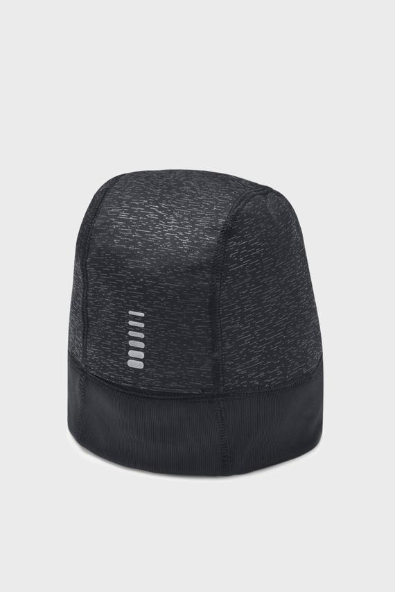 Женская черная шапка UA Storm Run Beanie