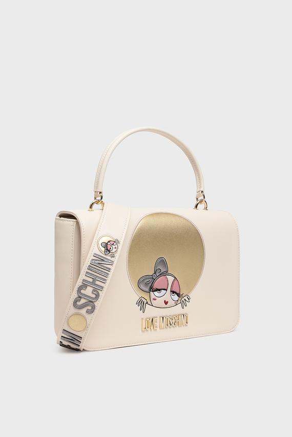 Женская бежевая сумка на плечо