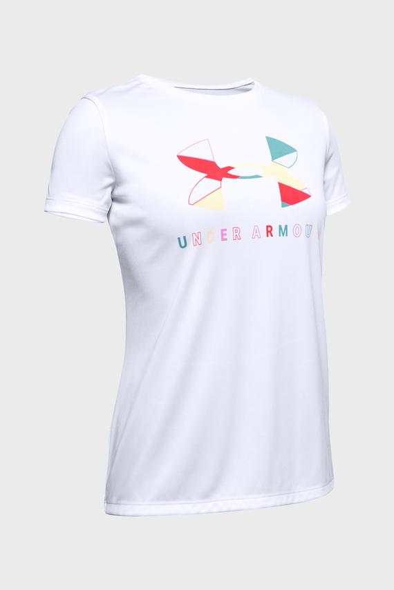 Детская белая футболка Tech Graphic Big Logo SS