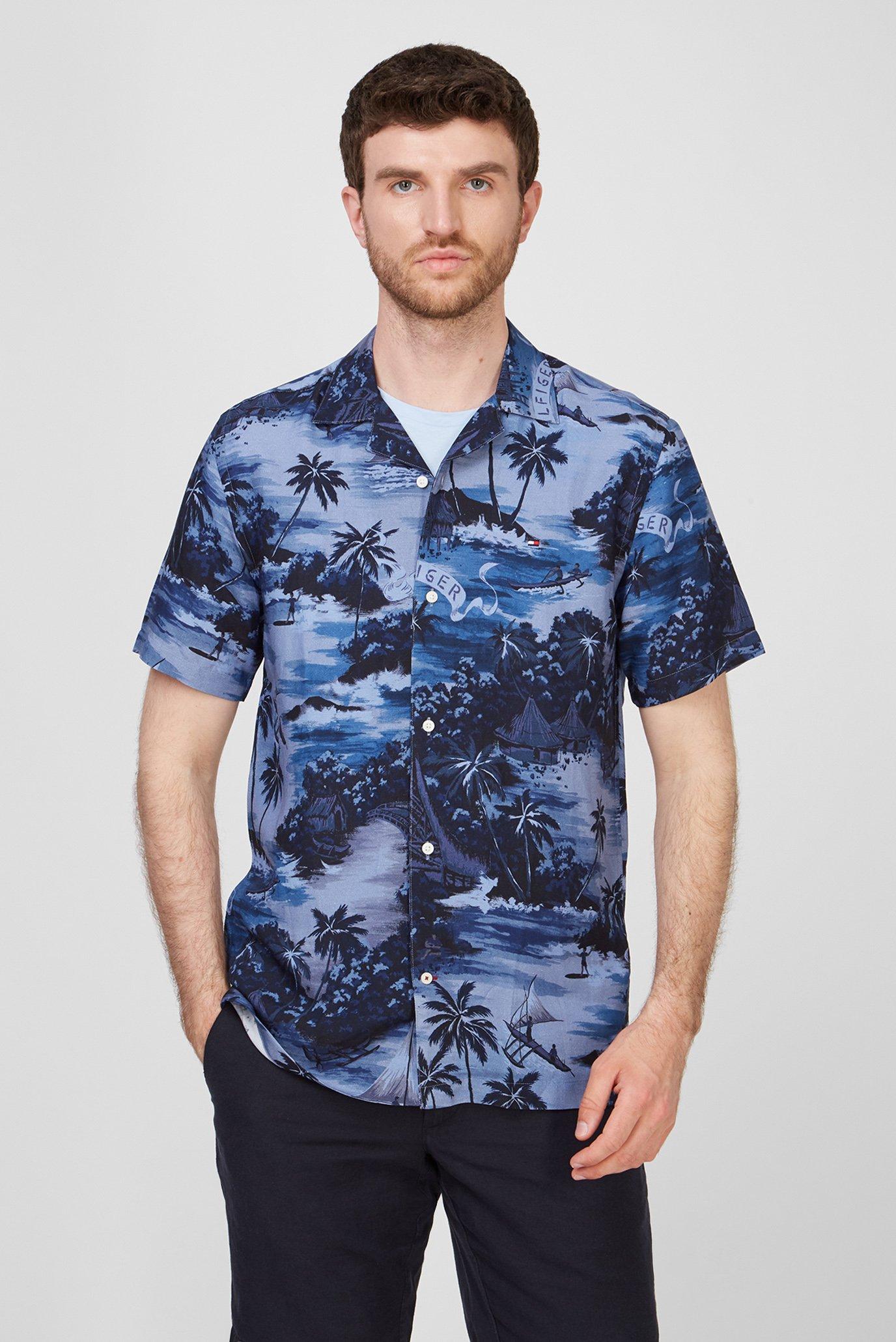 Чоловіча синя сорочка HAWAIIAN 1