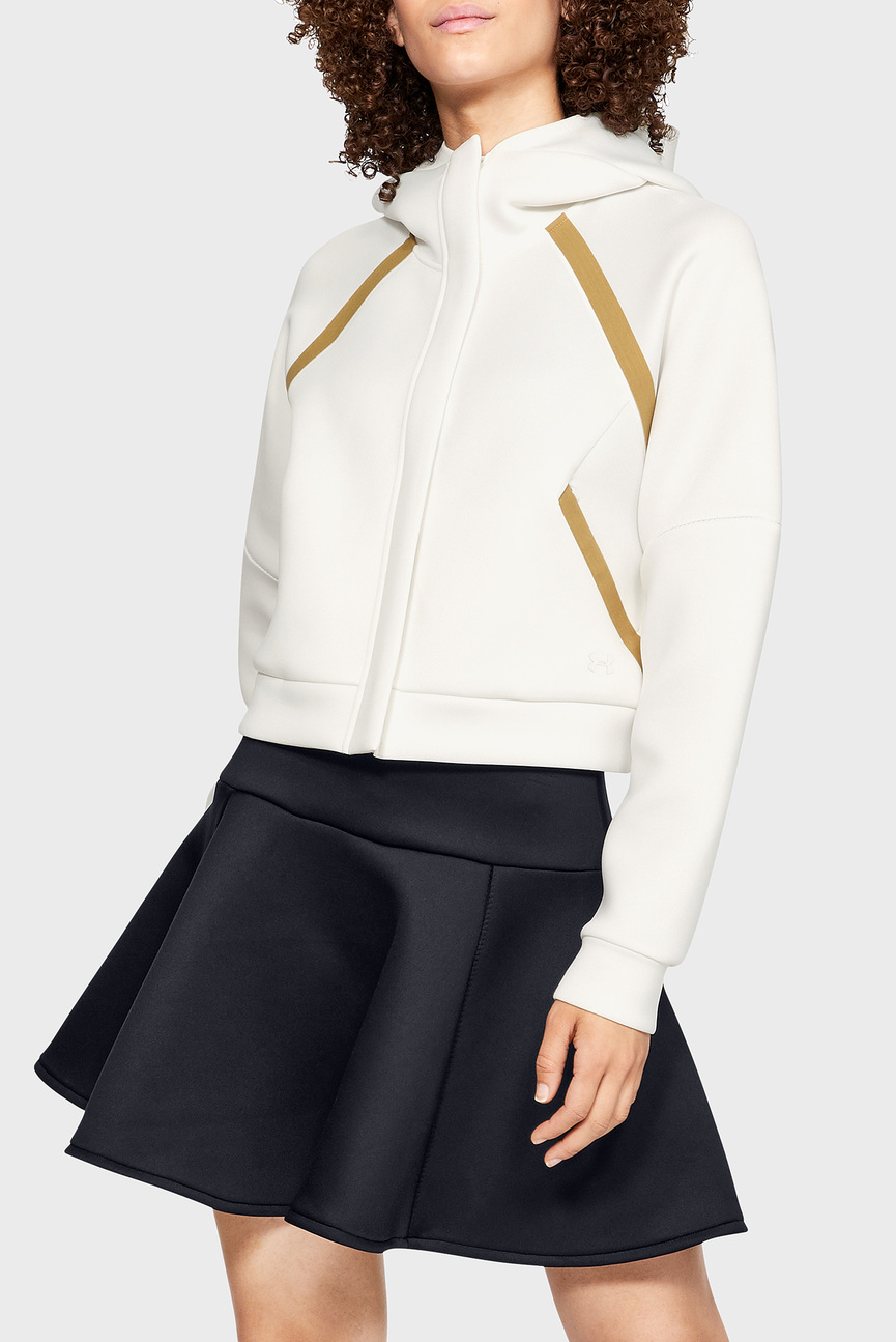 Женское белое худи Misty Signature Spacer Full Zip