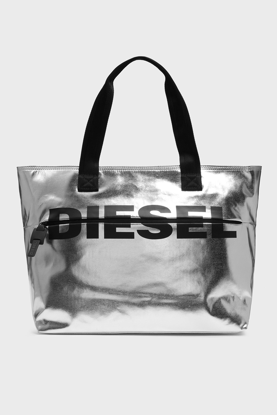 Женская серебристая сумка на плечо BOLDMESSAGE / F-BOLD