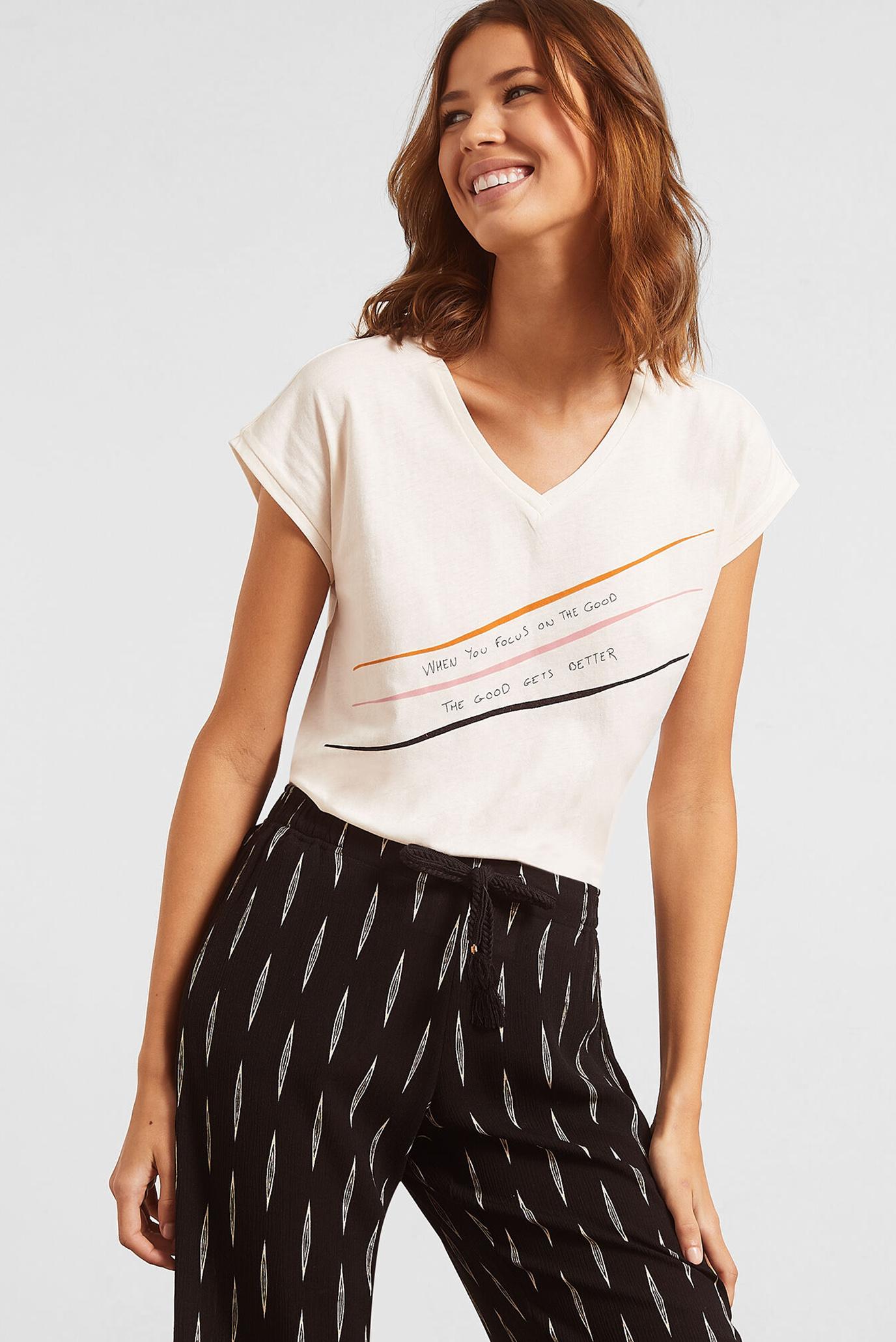 Женская белая  футболка DIMITRI 1