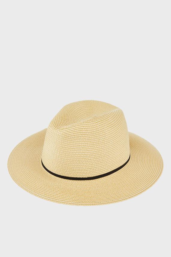 Женская бежевая шляпа PACKABLE PANAMA