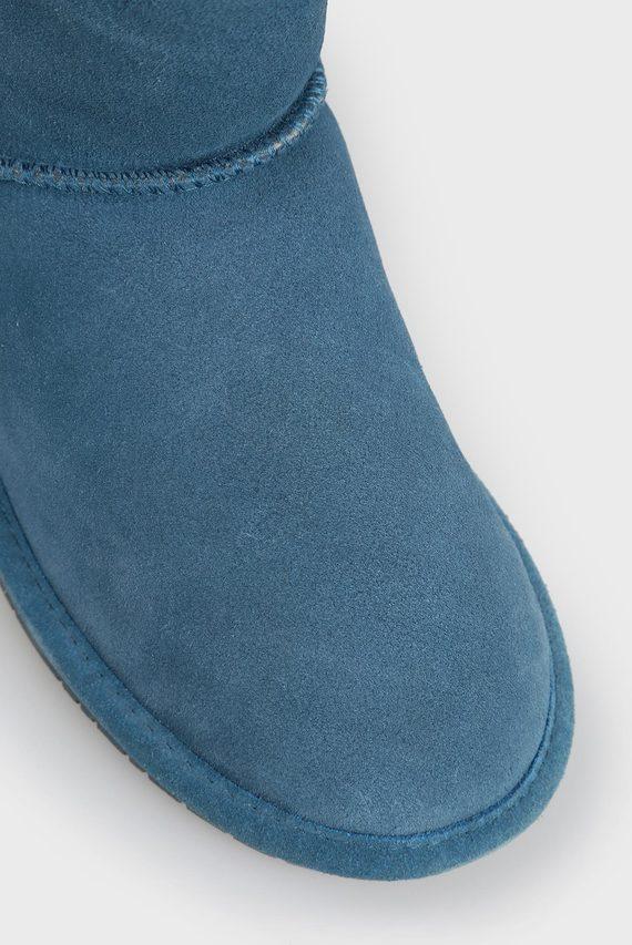 Женские синие замшевые угги