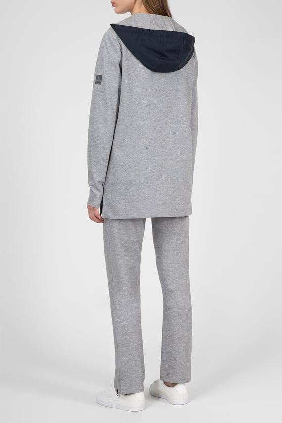 Женскией серый спортивный костюм (худи, брюки)