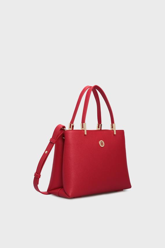 Женская красная сумка через плечо TH CORE MED SATCHEL