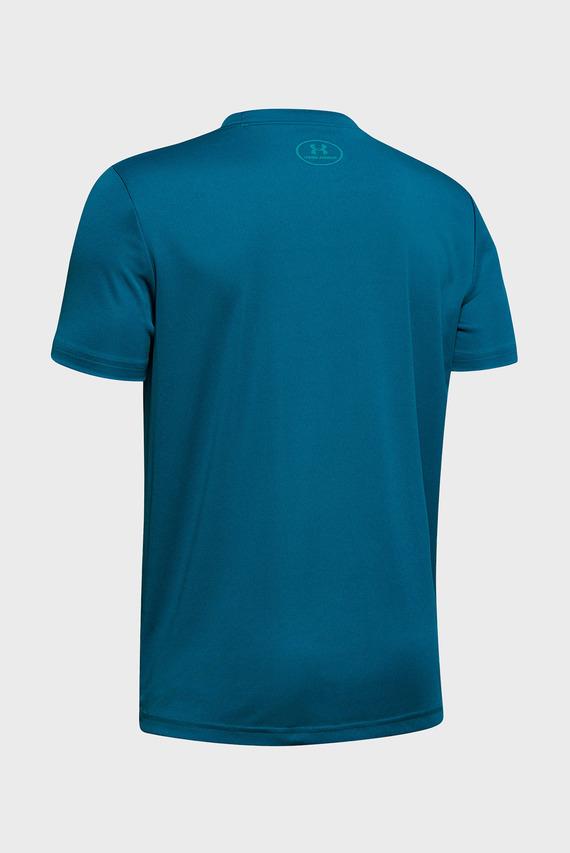 Детская бирюзовая футболка Print Fill Logo Tee-GRN