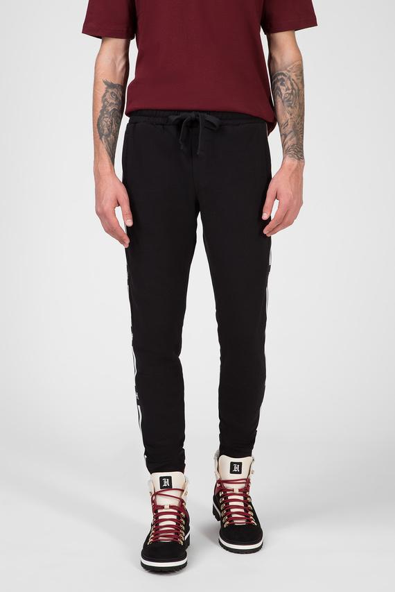 Мужские черные спортивные брюки LEWIS HAMILTON FLEECE