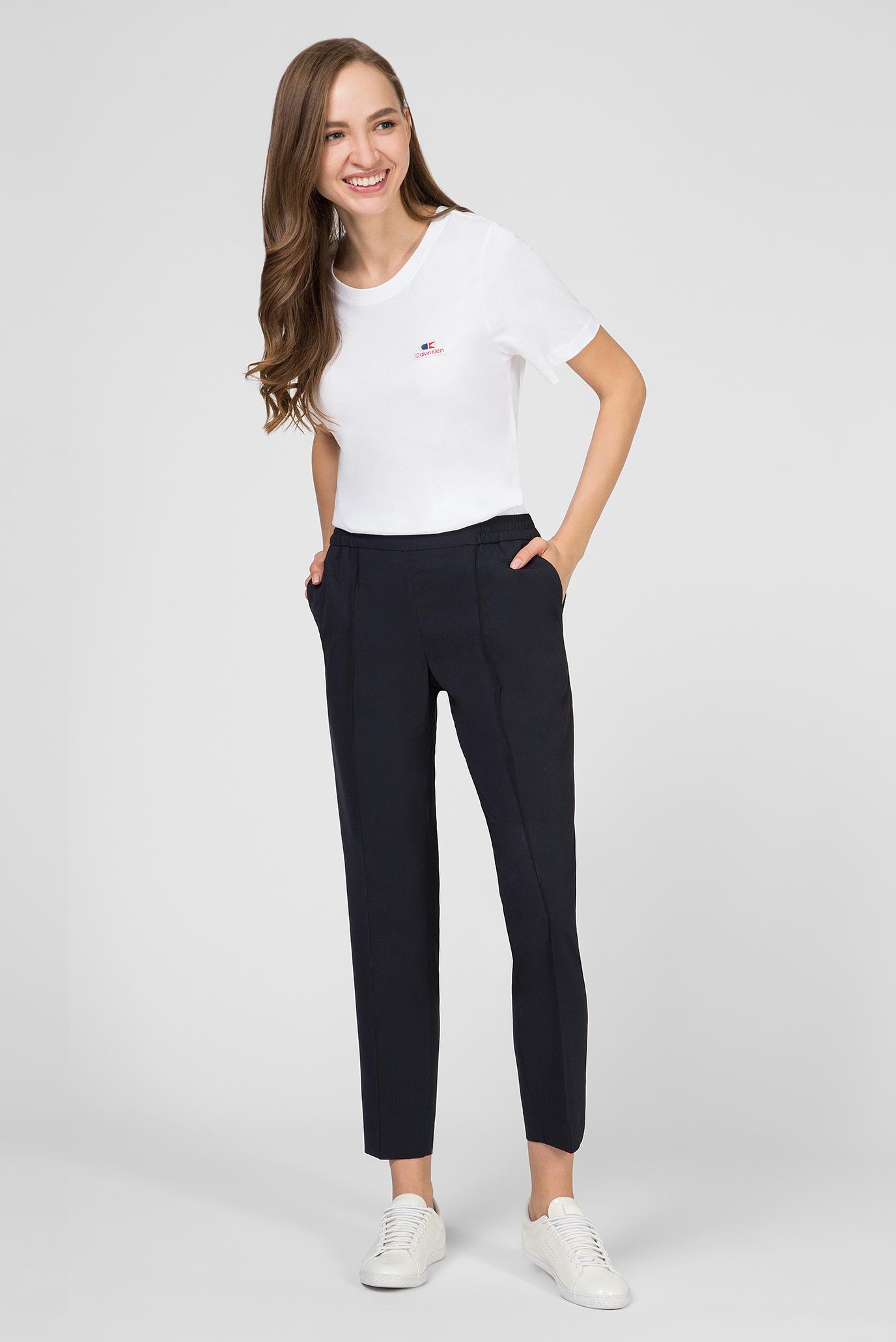 Женская белая футболка VINTAGE LOGO Calvin Klein