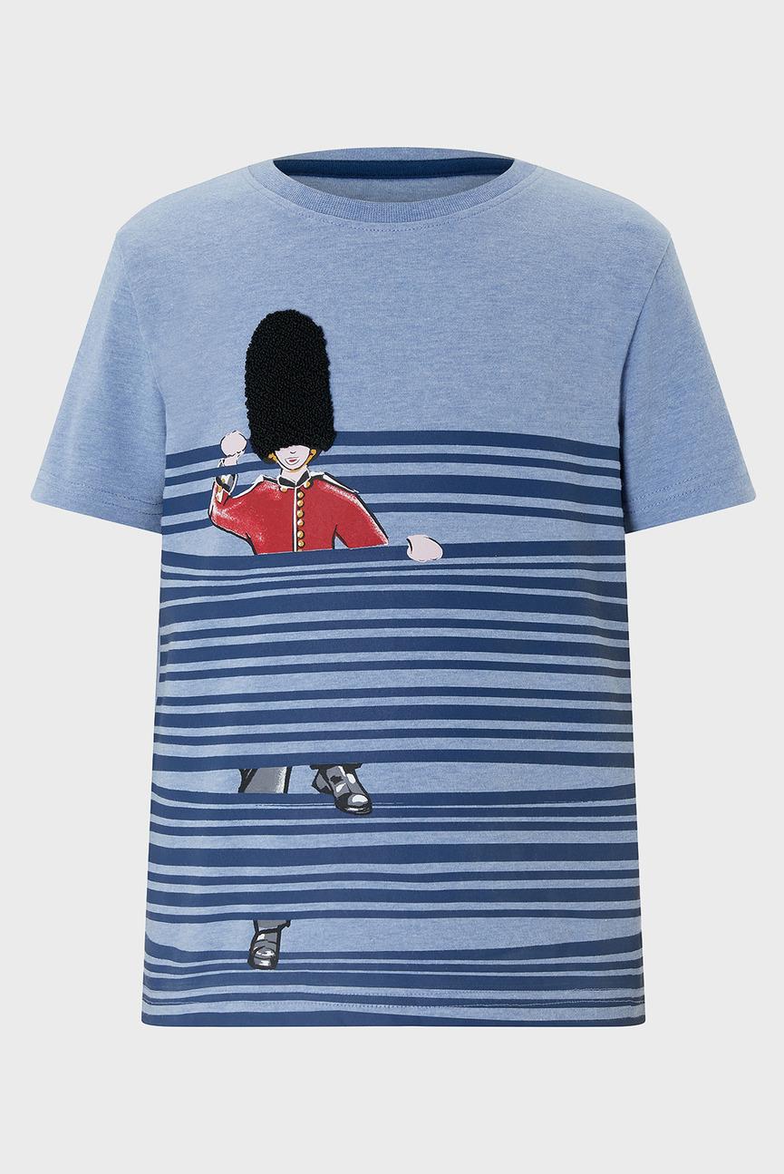 Детская голубая футболка Bobby Guard