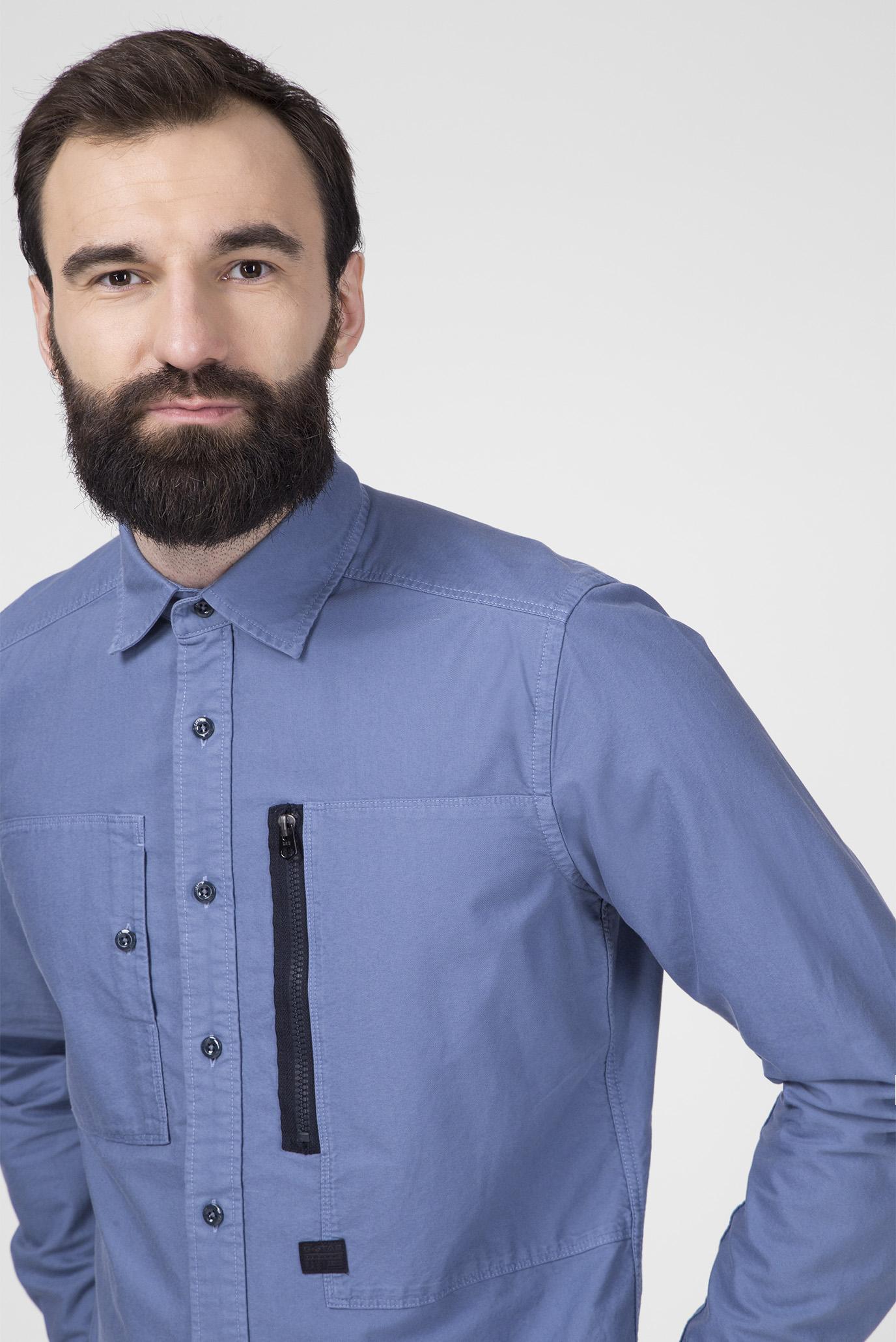 Мужская синяя рубашка Powel Slim G-Star RAW