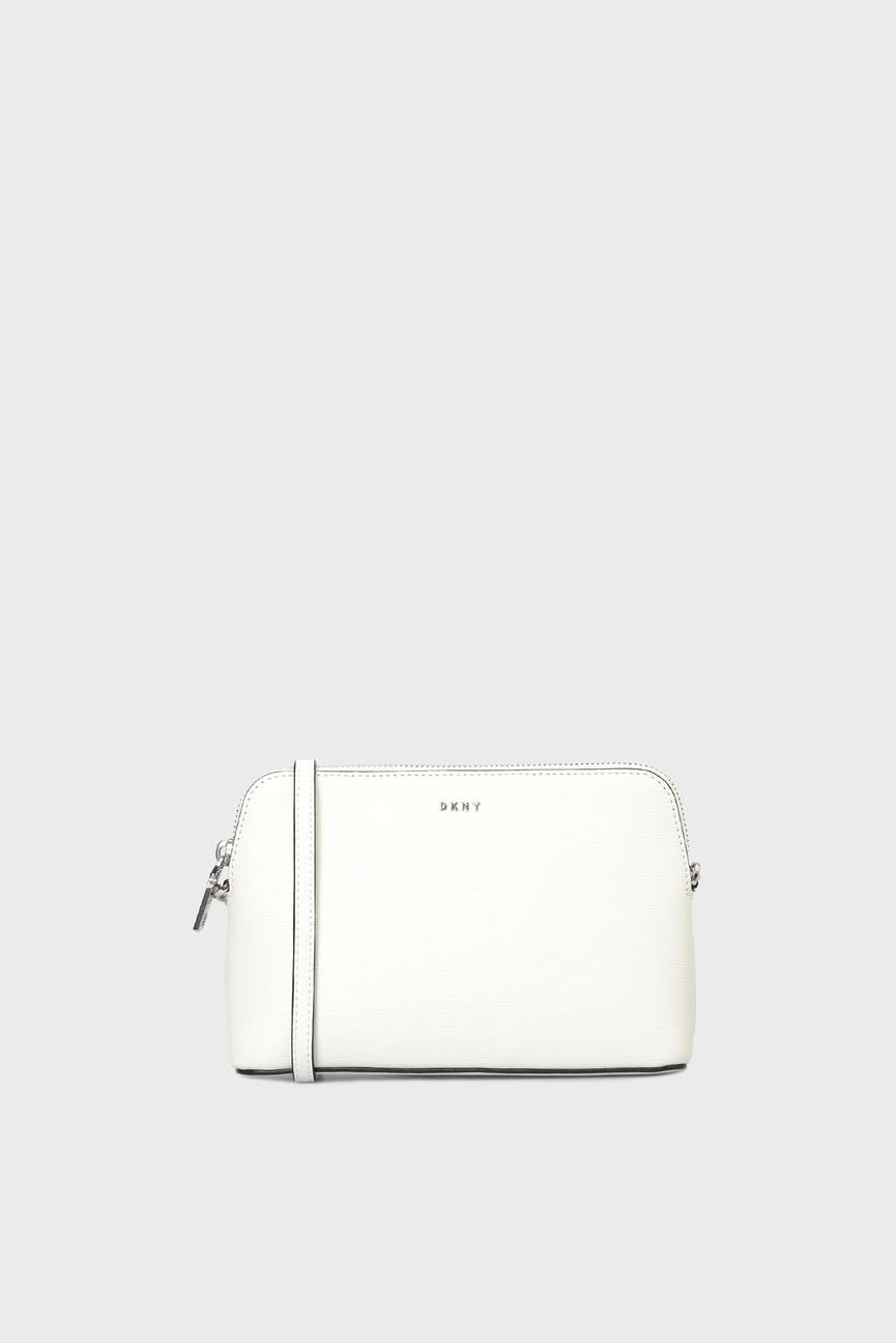 Женская белая кожаная сумка через плечо BRYANT-DOME