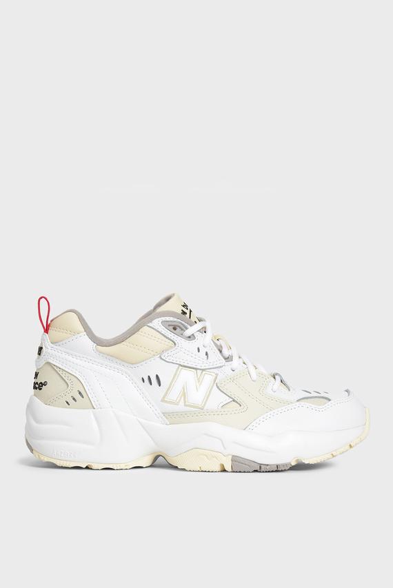 Женские белые кожанные кроссовки 608