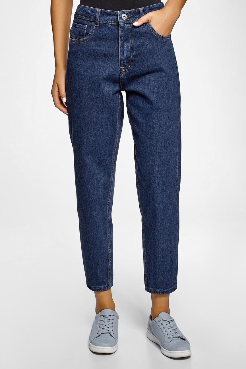 Женские темно-синие джинсы Mom Fit