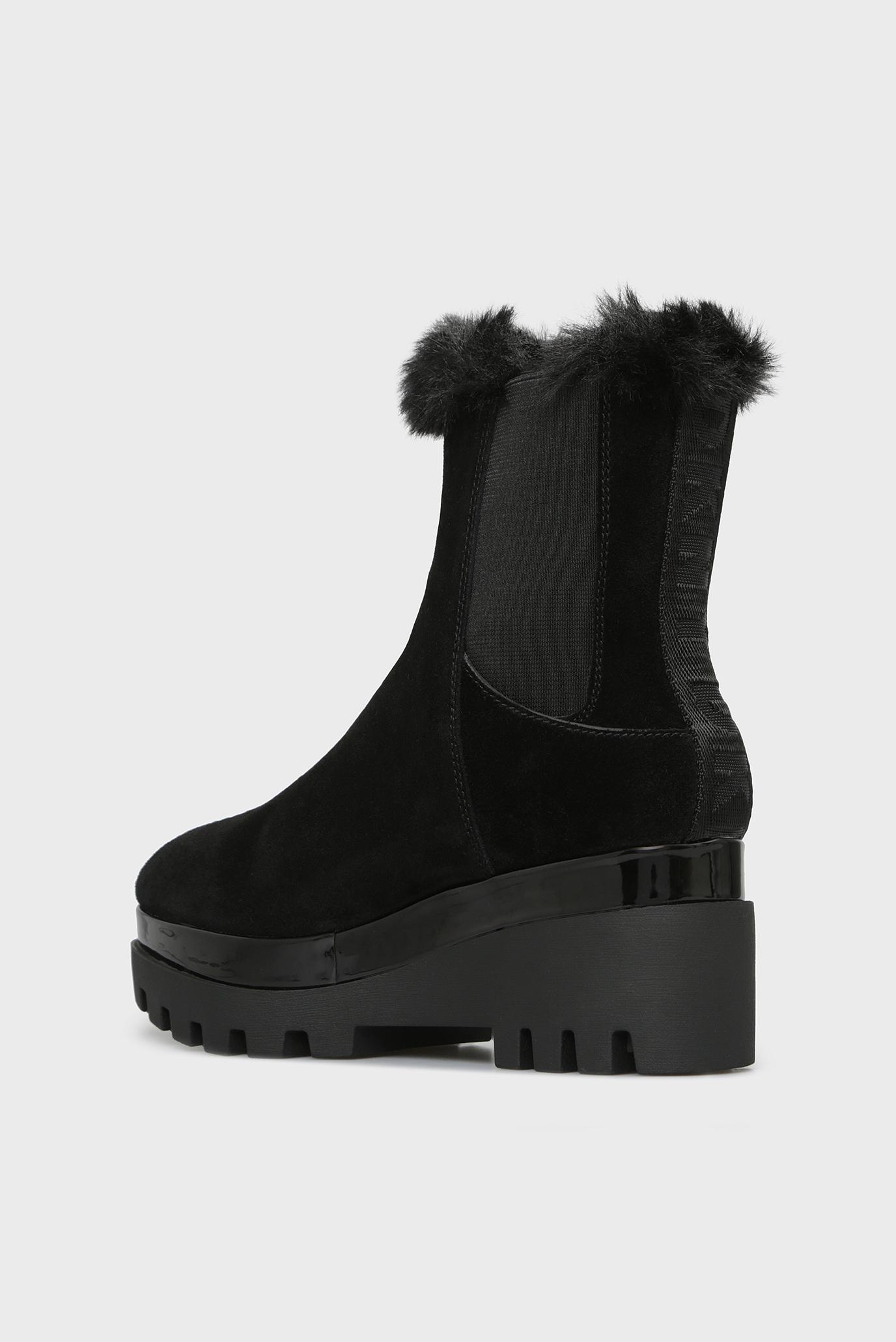 Купить Женские черные замшевые ботинки BAX DKNY DKNY K3855625 – Киев, Украина. Цены в интернет магазине MD Fashion
