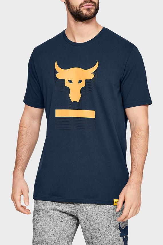 Мужская синяя футболка PROJECT ROCK ABOVE THE BAR