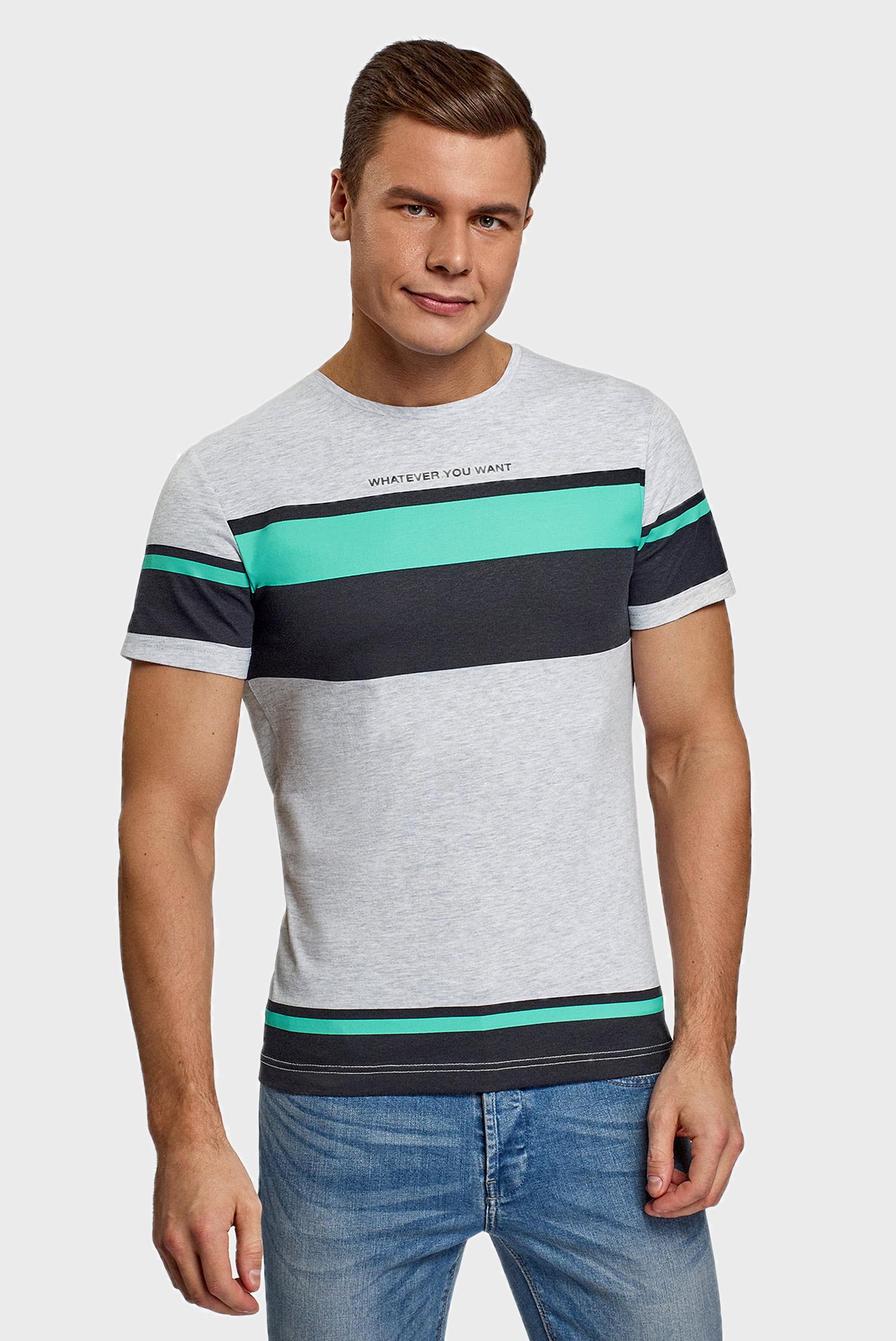 Чоловіча сіра футболка 1