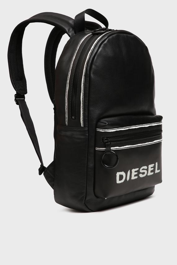 Мужской черный кожаный рюкзак ASPORTY / ESTE