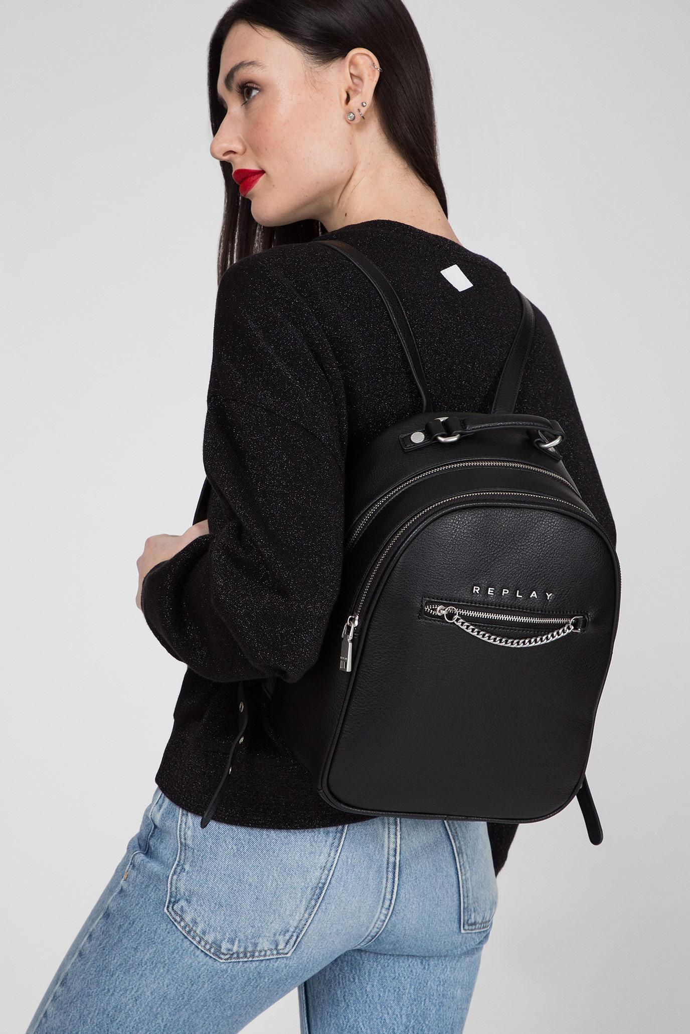 Женский черный рюкзак Replay