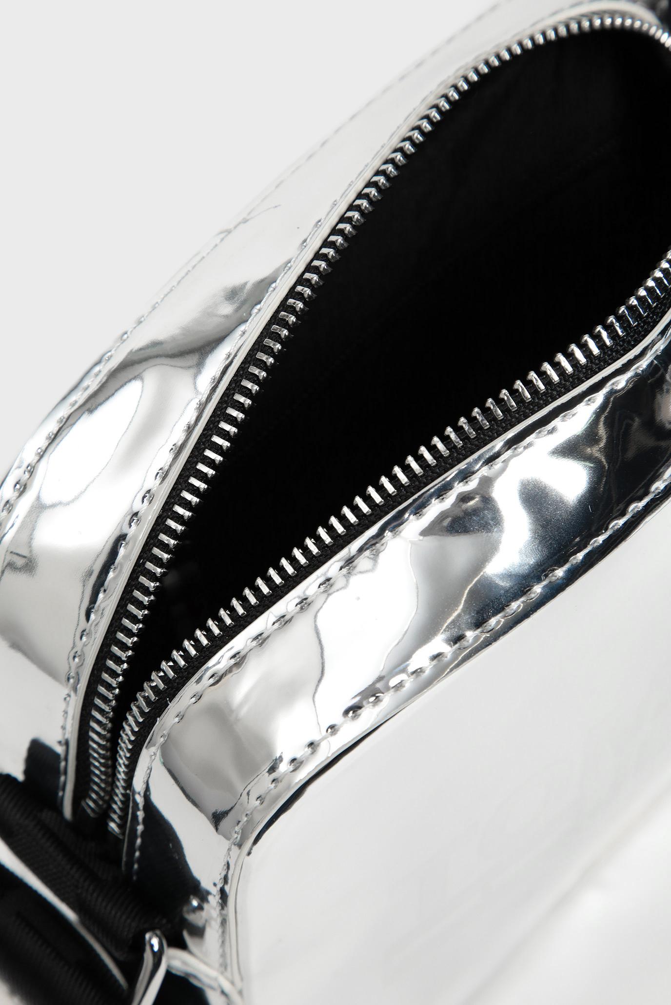 Женская серебристая сумка через плечо TJW TEXTURE METALLIC Tommy Hilfiger