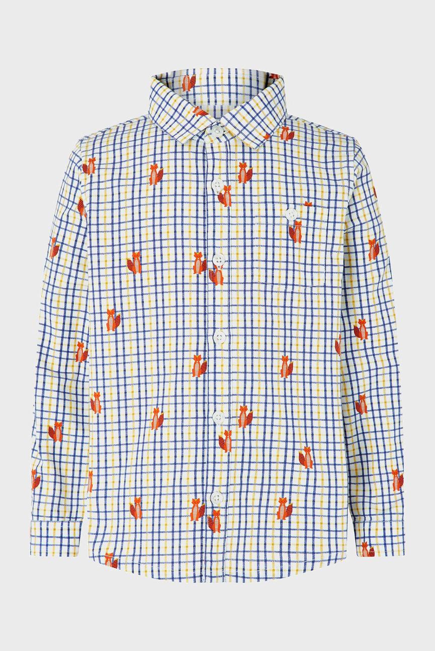 Детская рубашка в клетку CALEB FOX CHECK SHIR