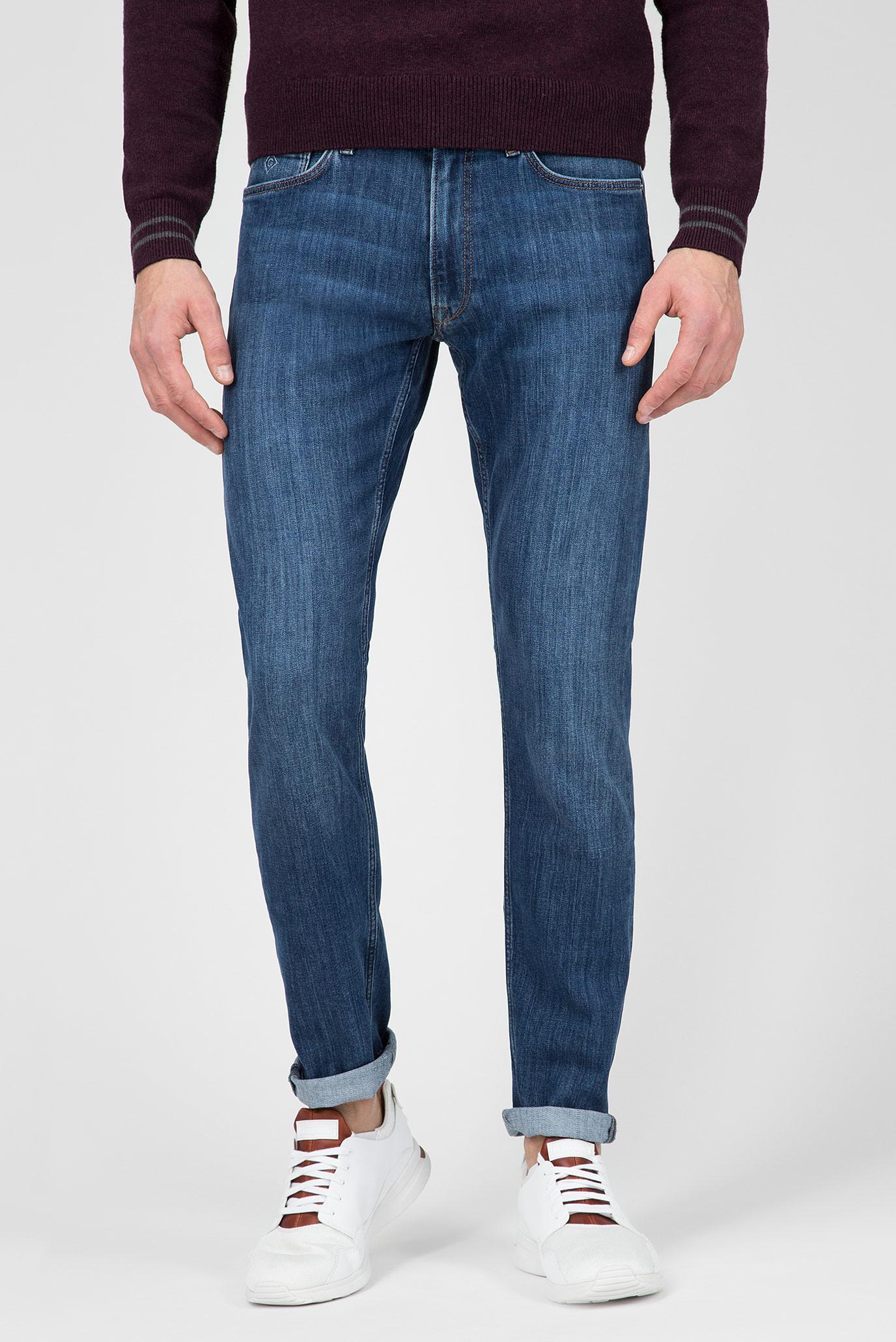 Мужские синие джинсы TAPERED JEANS Gant