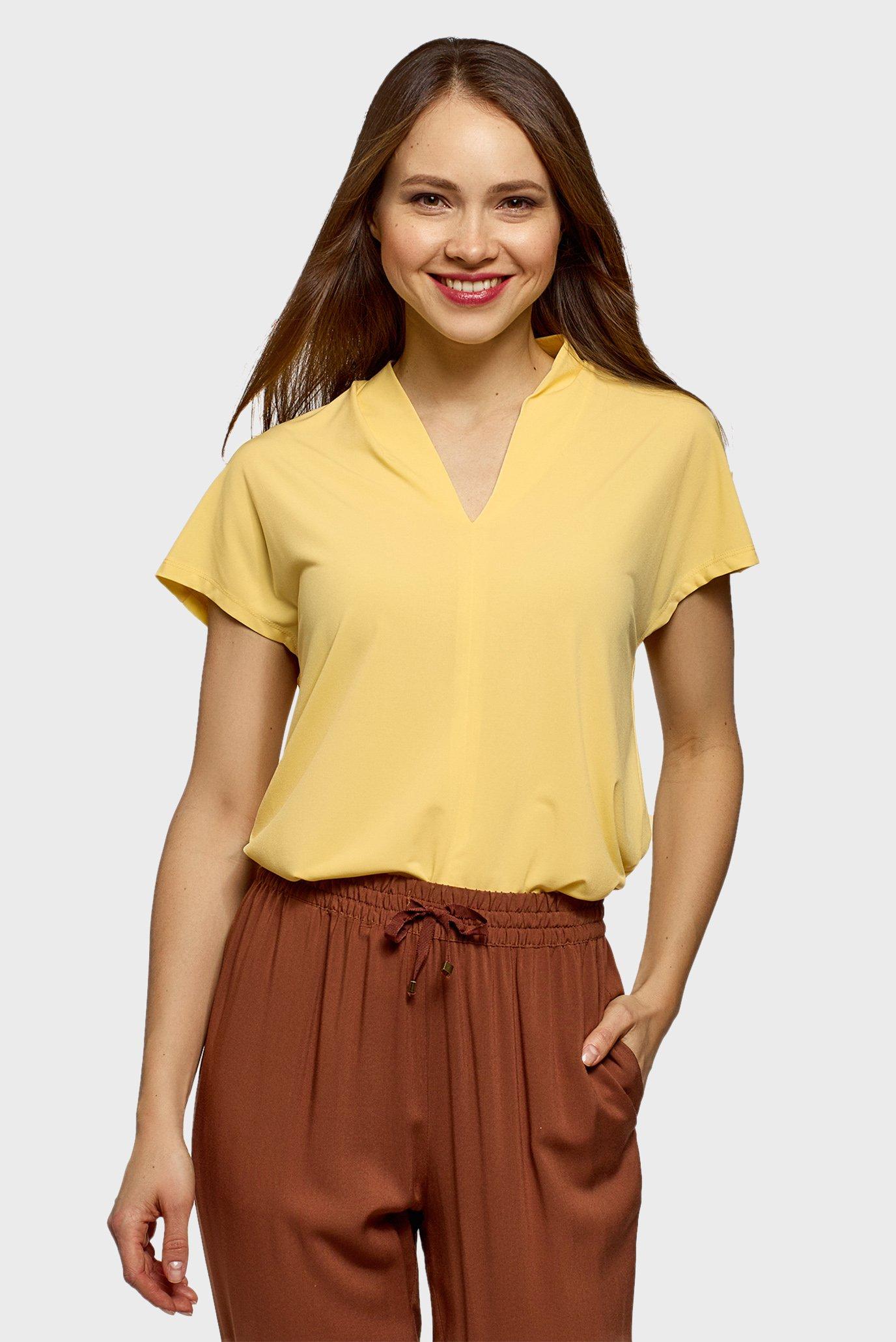 Жіноча жовта блуза 1