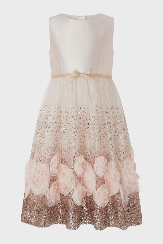 Детское розовое платье SHAKIRA SEQUIN ROSES