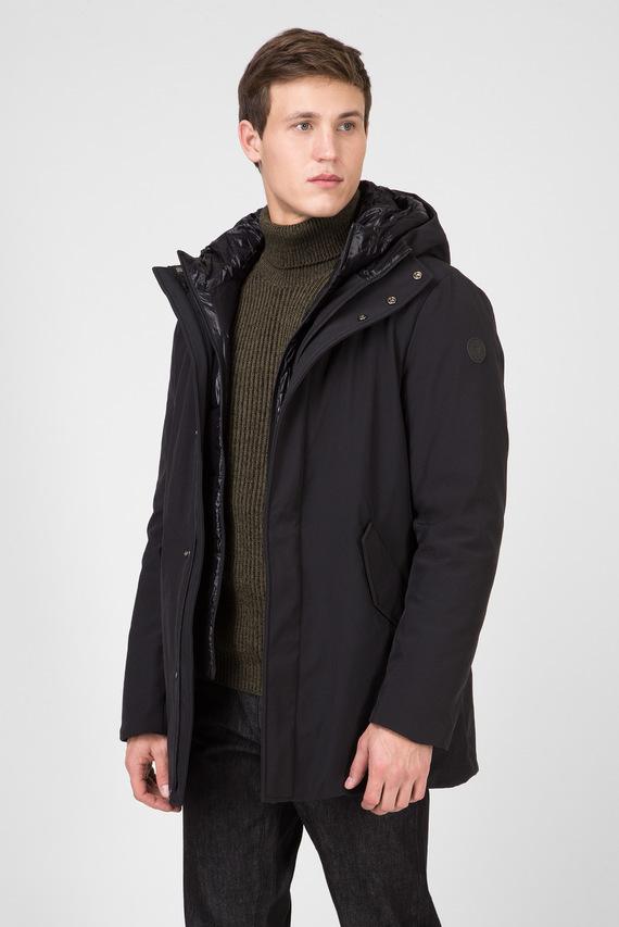 Мужская черная куртка REGULAR FIT TECHNICAL NEOPRENE