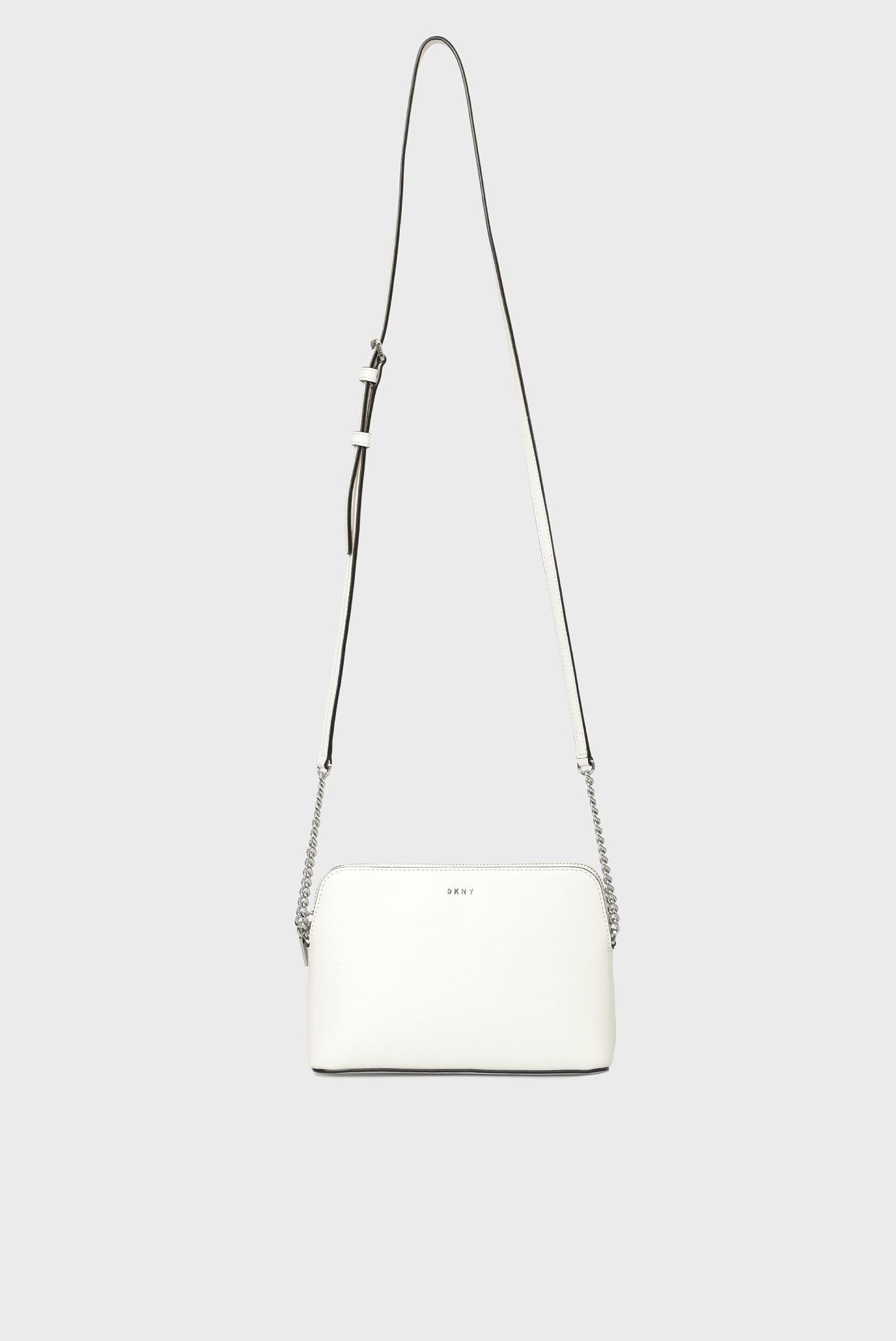 fb53202ac177 Купить Женская белая кожаная сумка через плечо BRYANT-DOME DKNY DKNY  R83E3655 – Киев, Украина. Цены в интернет магазине MD Fashion