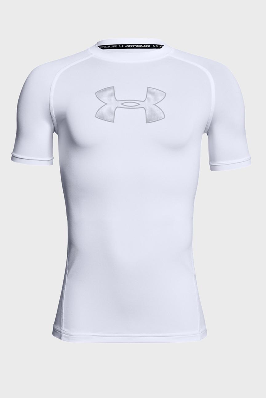 Детская белая компрессионная футболка Armour SS