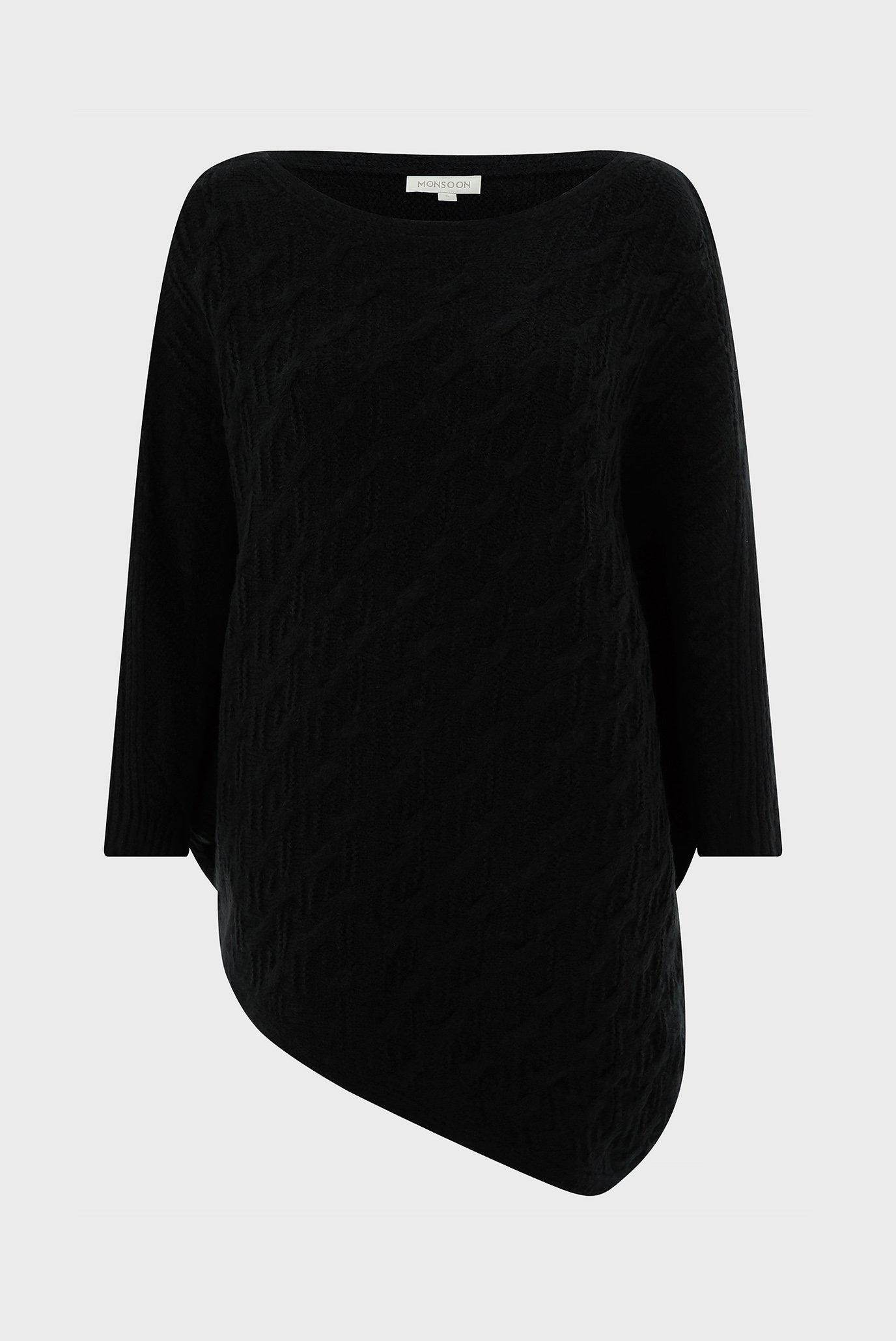 Купить Женское черное пончо WB CABLE ASYMETRIC PONCHO Accessorize Accessorize 587320 – Киев, Украина. Цены в интернет магазине MD Fashion