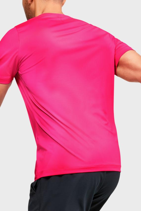 Мужская розовая спортивная футболка UA HG Rush Fitted SS Printed