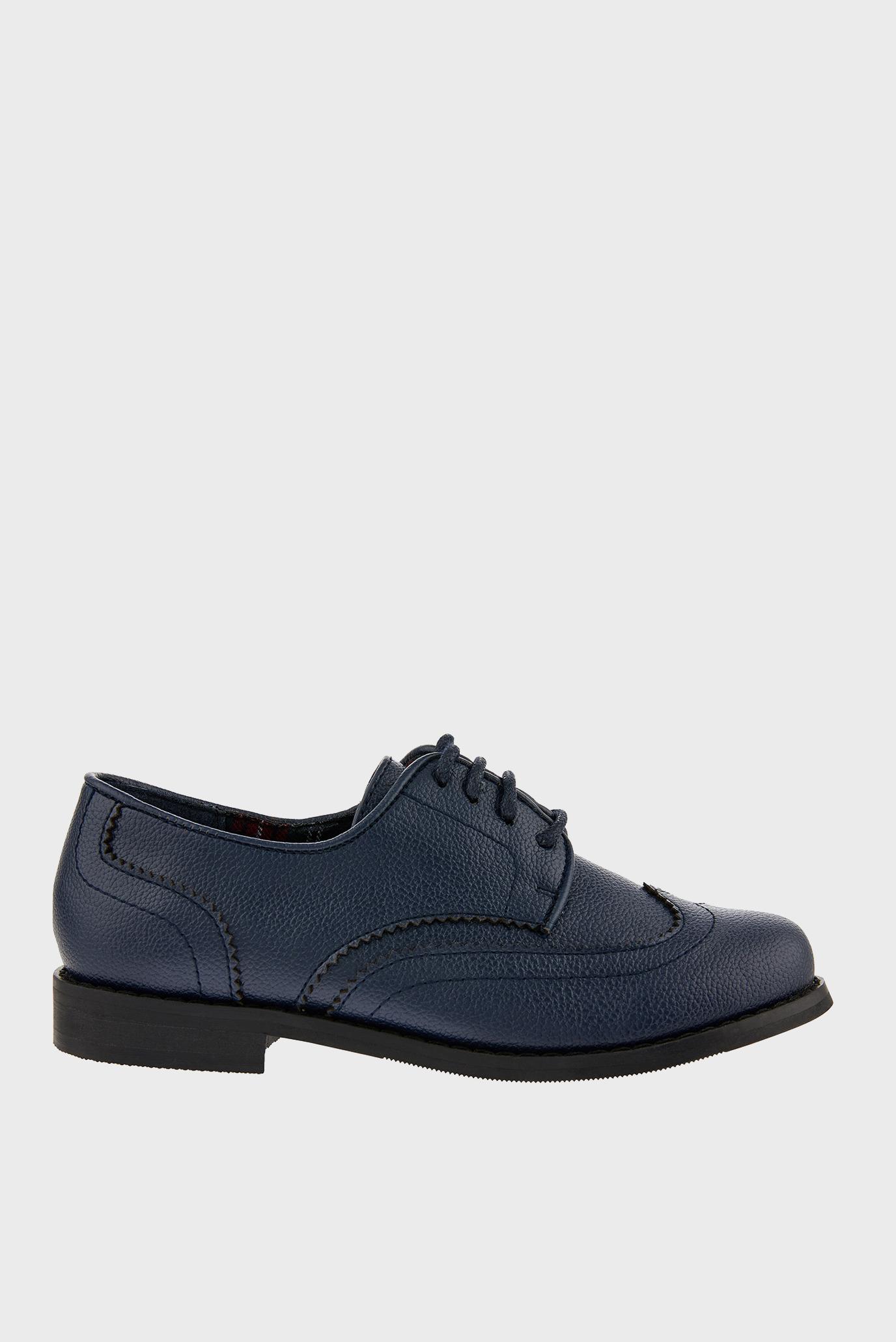 Детские синие туфли BOY BROGUE 1