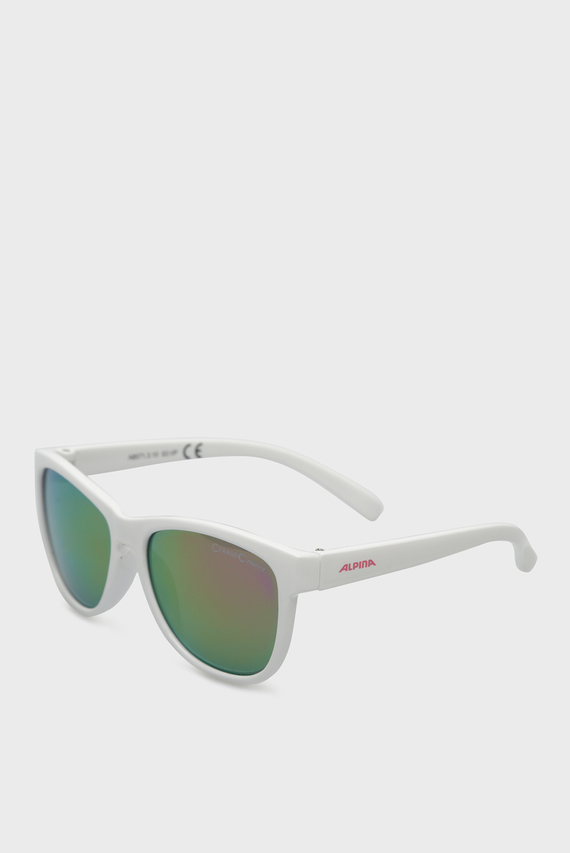Детские белые солнцезащитные очки LUZY JR