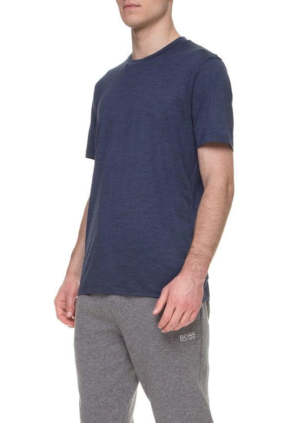 Мужская синяя шерстяная футболка