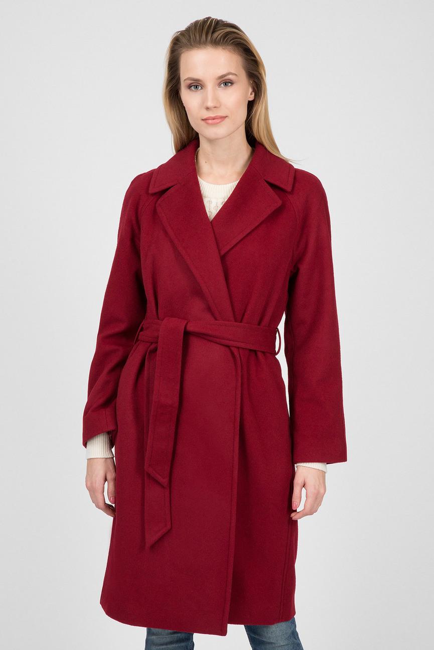 Женское бордовое пальто WOOL WRAP