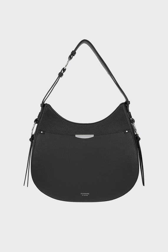 e2268f93c463 Женская черная сумка на плечо B LAILA HOBO Accessorize 1 210 грн 605 грн