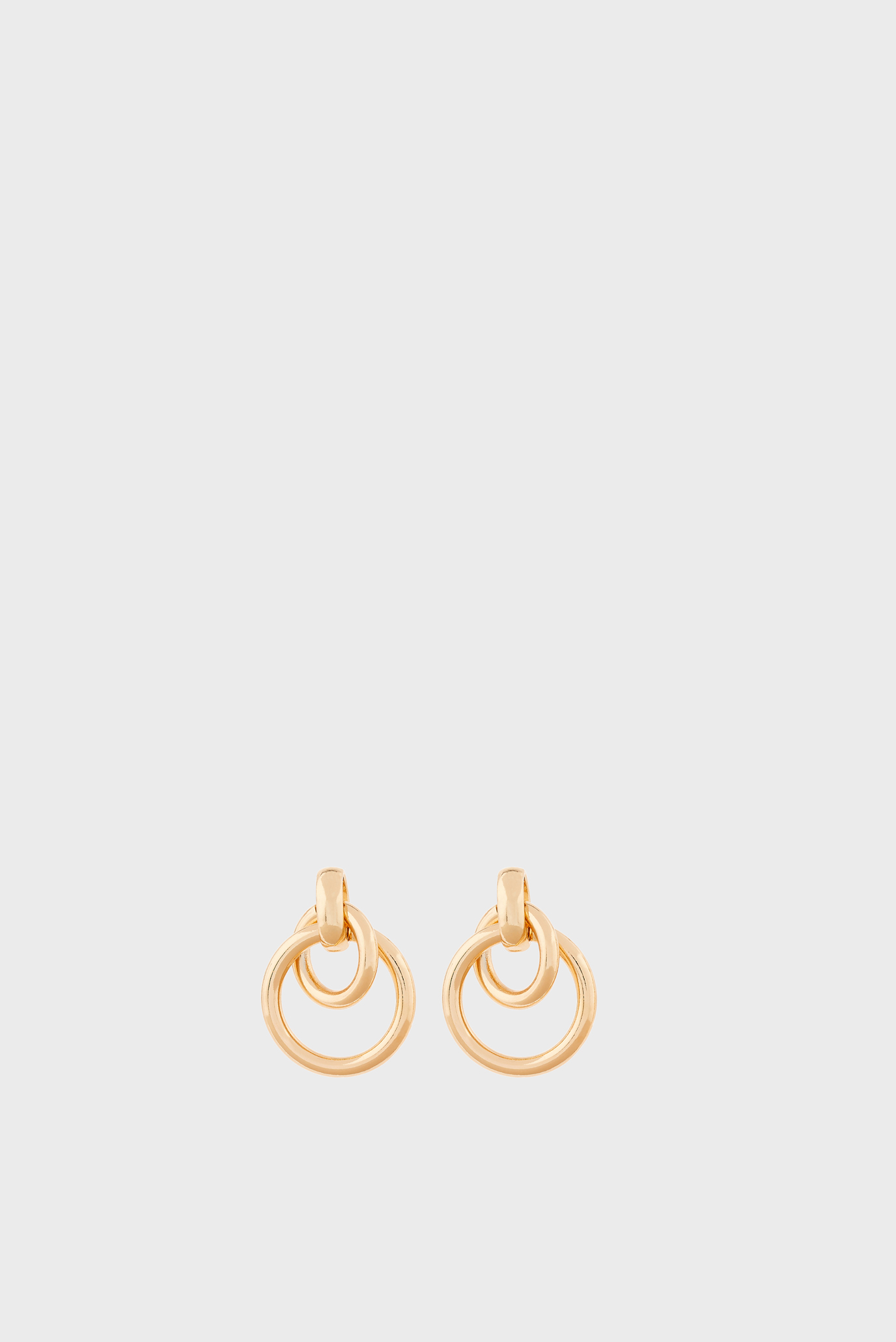 Жіночі золотисті сережки DAINTY LOOPS DOORKNO 1